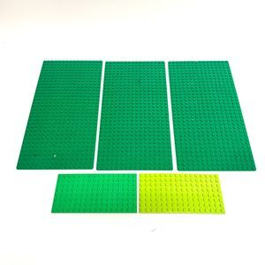Lego Plate Panel Lot of 5- Green